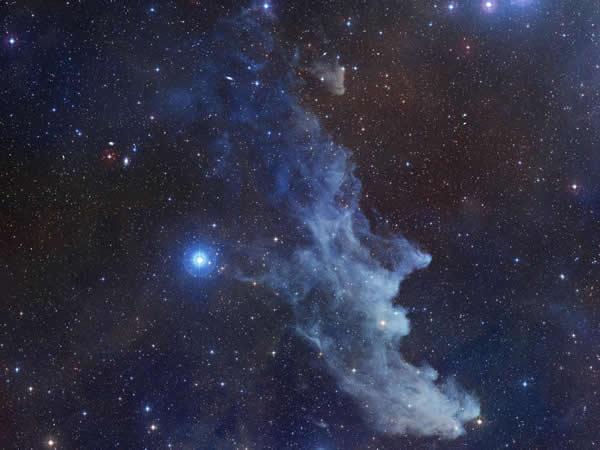 Rigel and Witch Head Nebula